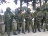 попытка наших десантников вывезти оружие с в/ч в Крыму